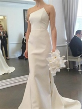 Strapless Mermaid Sweep Train Wedding Dress