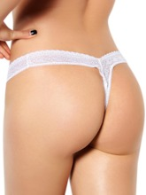 broderie taille basse sexy string