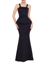 Bodycon Appliques Patchwork Women's Maxi Dress
