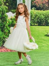 Straps A-Line Flowers Girls Party Dress
