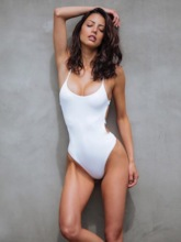 Sexy Plain Backless One Piece Swimsuit