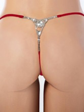 Plain Polyester Sexy G-String Micro Thong