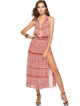 Halter Printing Women's Day Dress