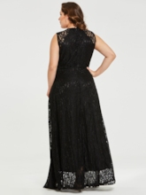 Plus Size Lace Patchwork Hollow Women's Maxi Dress