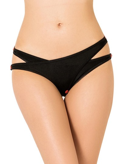 Button Hollow Plain Panty