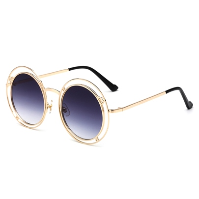 Hollow Out Yurt Metal Personalized Sunglasses
