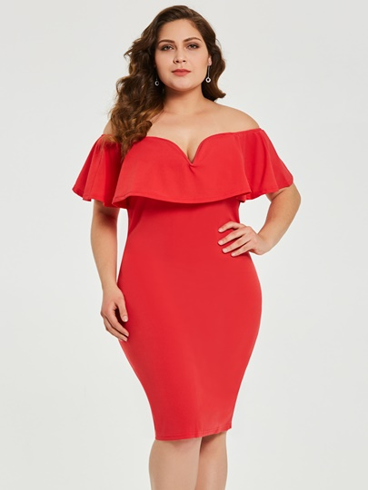 Red Dresses For Plus Size Tbdress