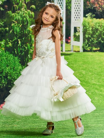 Cute flower girl dresses 2016 with ivory in white tbdress pearls lace tiered flower girl dress mightylinksfo Image collections