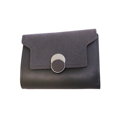 Short Type Color Block Women Mini Wallet