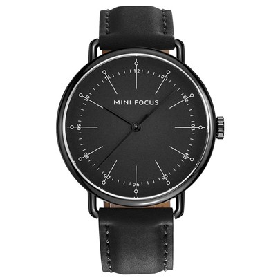 Simple Mirror Hardlex Alloy Artificial Leather Strap Men's Watches