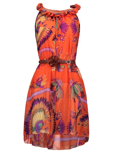 Floral Print Vacation Women's Beach Dress