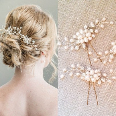 Copper Wire Artificial Pearl Wedding Hair Accessories