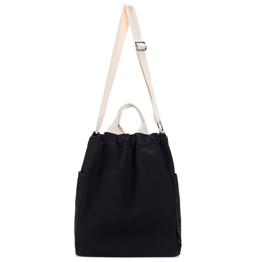 Simple Canvas Women Shoulder Bag