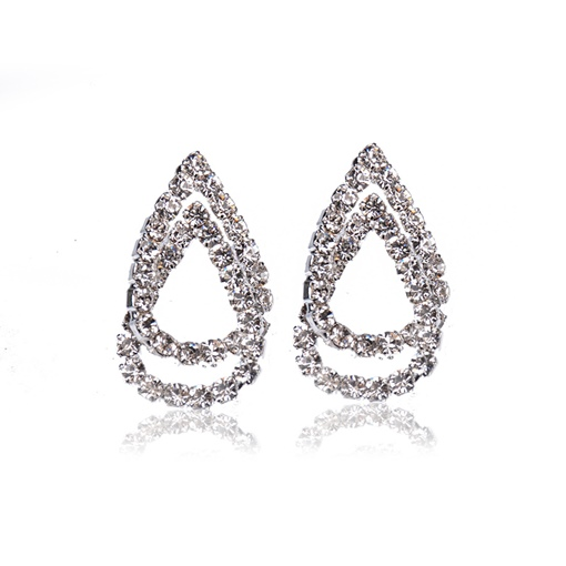 Full Drill Hollow Out Pear Earrings