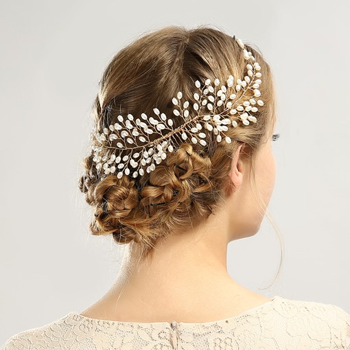 Flexional Synthetic Pearl Tuck Comb Hair Accessories