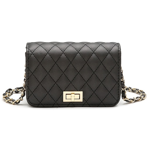 Casual Quilted Lining Chain Cross Body Bag