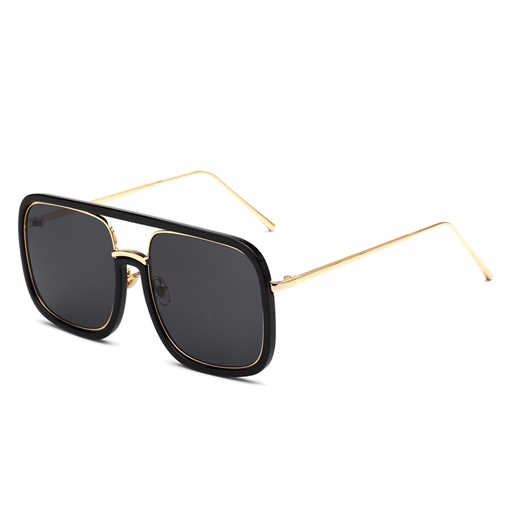 Square Plastic Metal Original Sunglasses