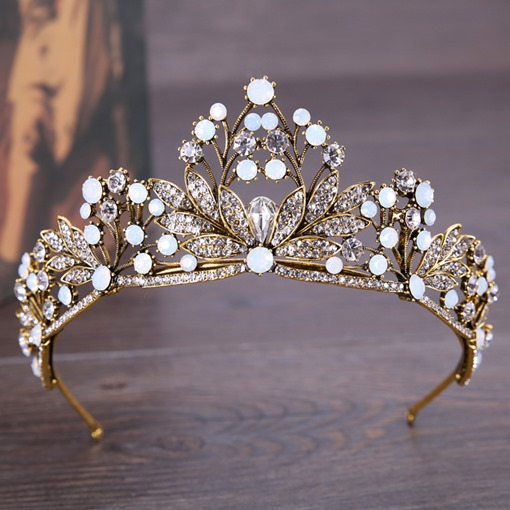 Alloy Hollow Out Crown Retro Hair Accessories