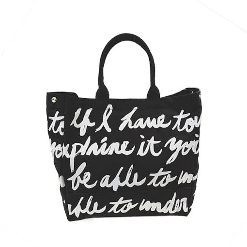 Personality Letter Pattern Canvas Tote