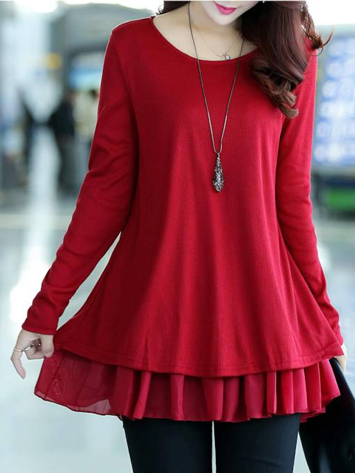 Mid-Length Double-Layer Women's Knitwear