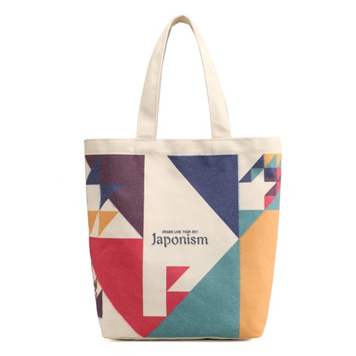 Geometric Pattern Canvas Shoulder Bag