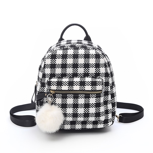 Casual Solid Color Block Women Backpack