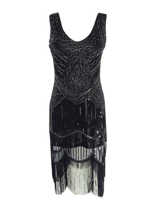 Sequins Tassels Women's Sheath Dress