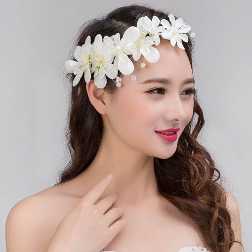 Lace Cloth Flower Rhinestone Hair Accessories