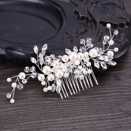 Rhinestone White Imitation Pearl Crown Hair Accessories