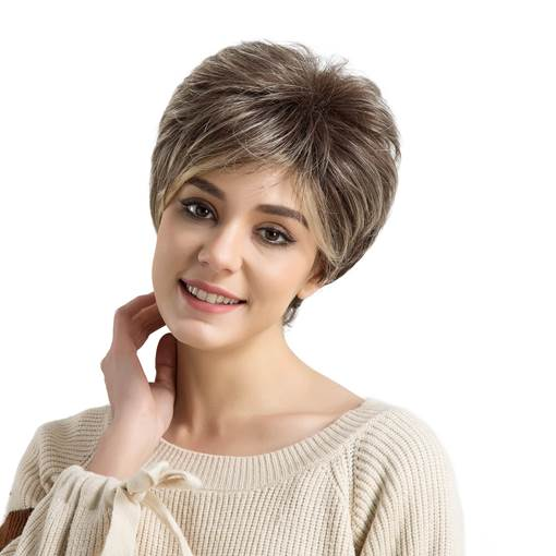 Stylish And Exquisite Short Hair Synthetic Wigs For Women 10 inches