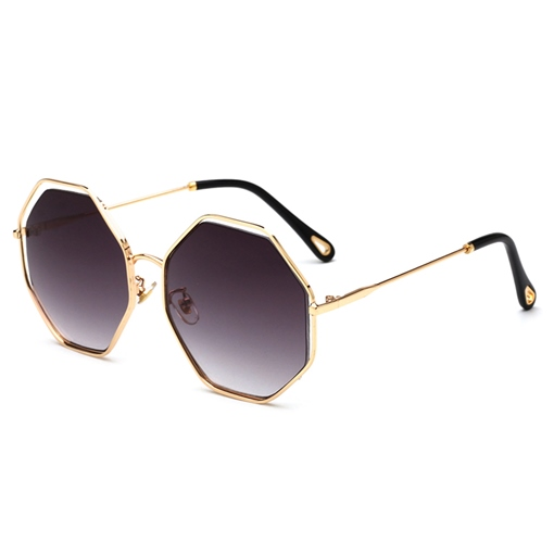 Irregular Color Film Metal Sunglasses