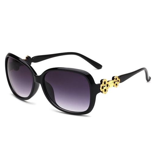 Leopard Print Yurt Metal Sunglasses