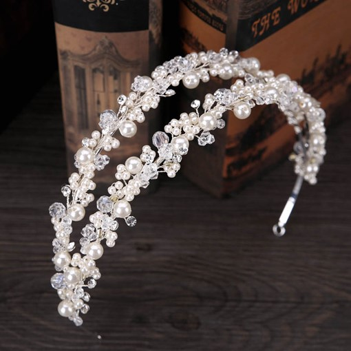 Double Row Imitation Pearl Bride Crown Hair Accessories