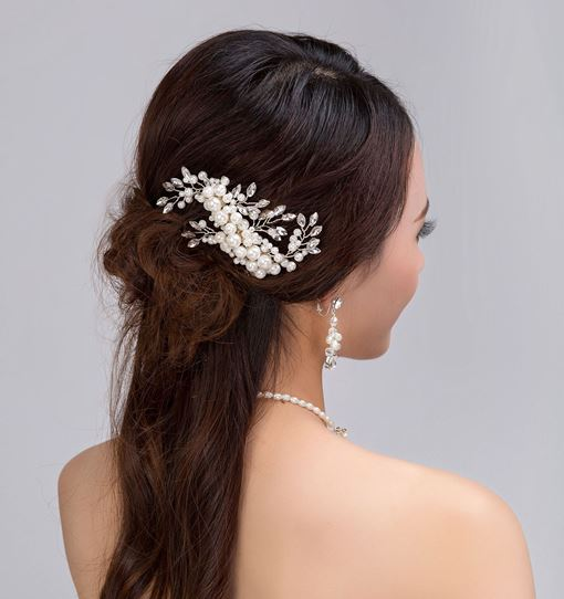 Tuck Comb Marquise Imitation Pearl Hair Accessories