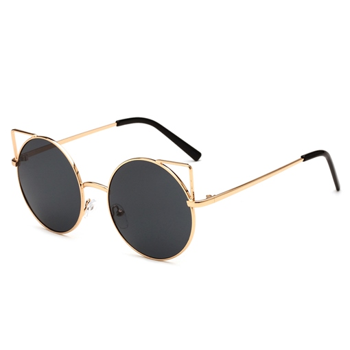 Metal Frame Cat's Eye Sunglasses