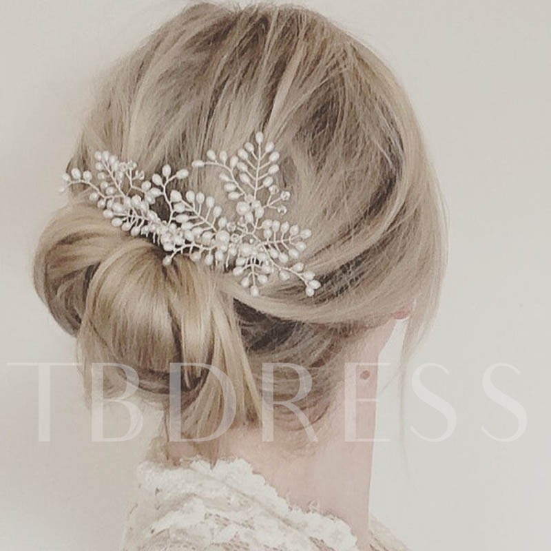 Image of Bronze Wire Imitation Pearl Hair Accessories