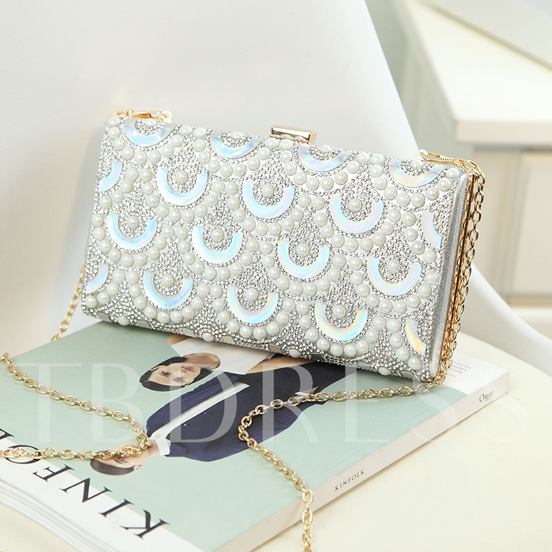 Exquisite Geometric Pearl Design Cross Body