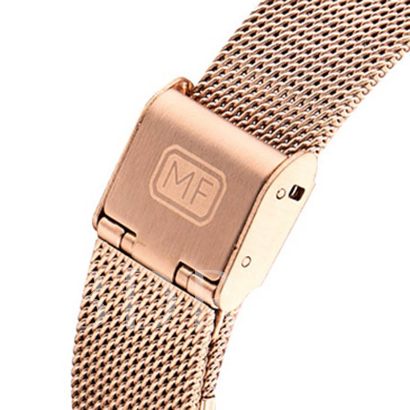 Soild Steel Buckle Black Coating Rose Gold Watches