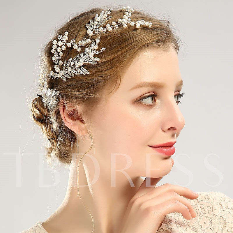 Marquise Leaf Imitation Pearl Hair Accessories