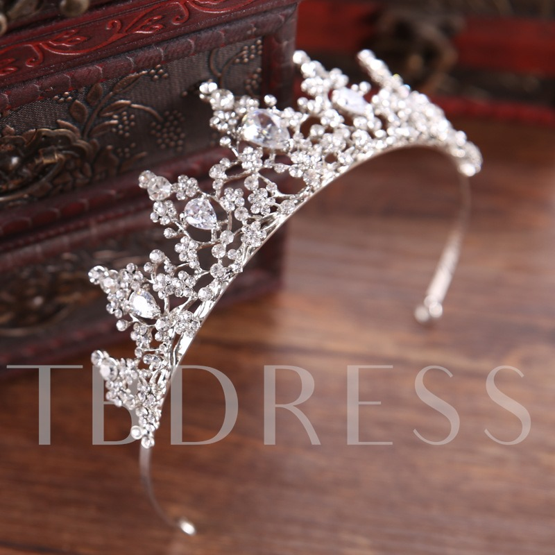 Hollow Out Cubic Zirconia Princess Crown Hair Accessories