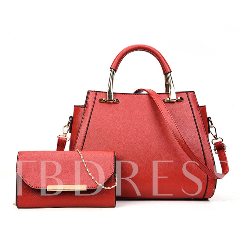 Korean Style Casual Zipper Women Bag Set