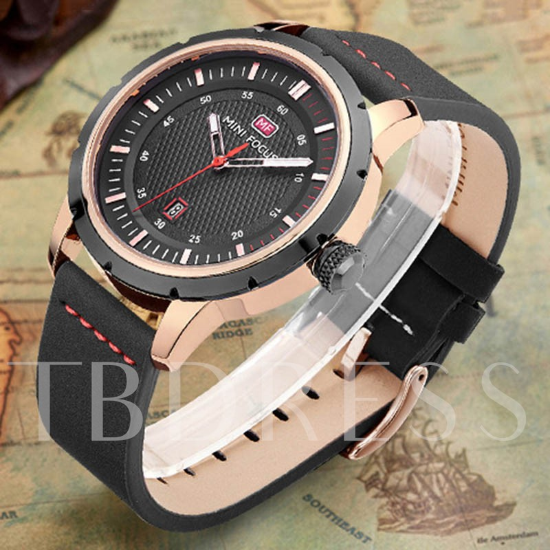 Waterproof Alloy Buckle Strap Men's Watches