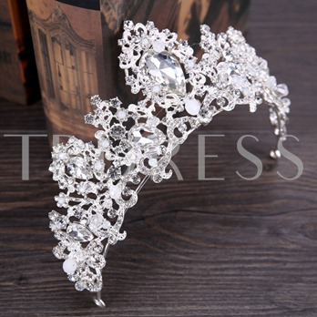 Hollow Out Silver Plated Crown Hair Accessories