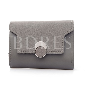 Casual Color Block Mini Wallet