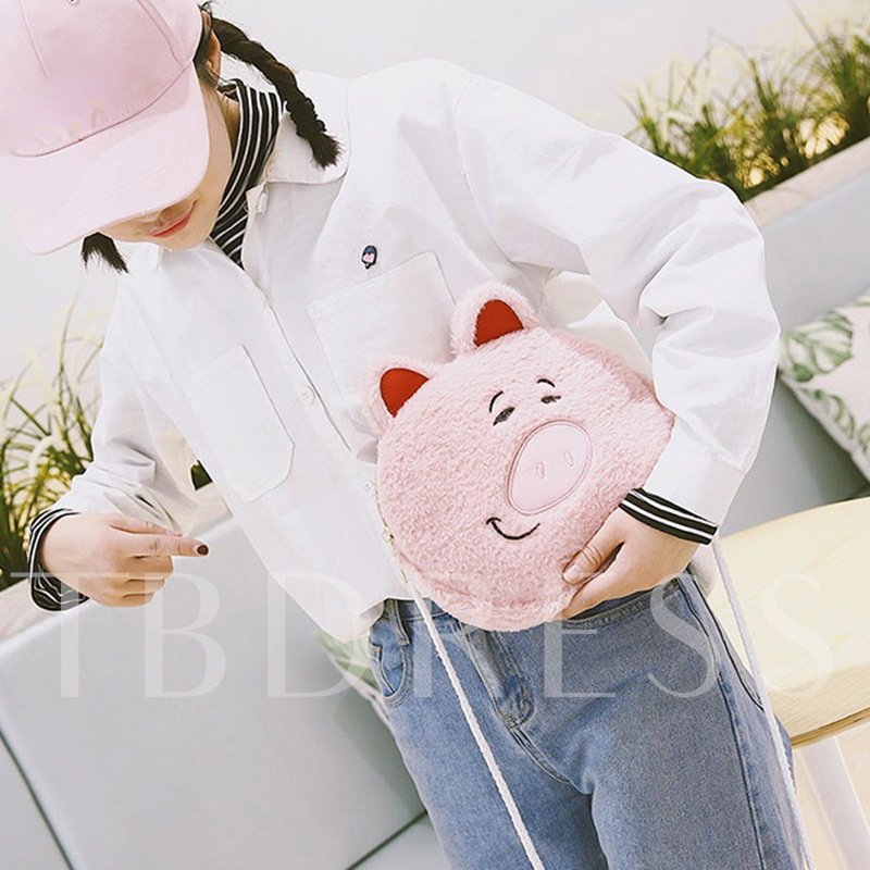 Casual Cartoon Animal Design Cross Body Bag