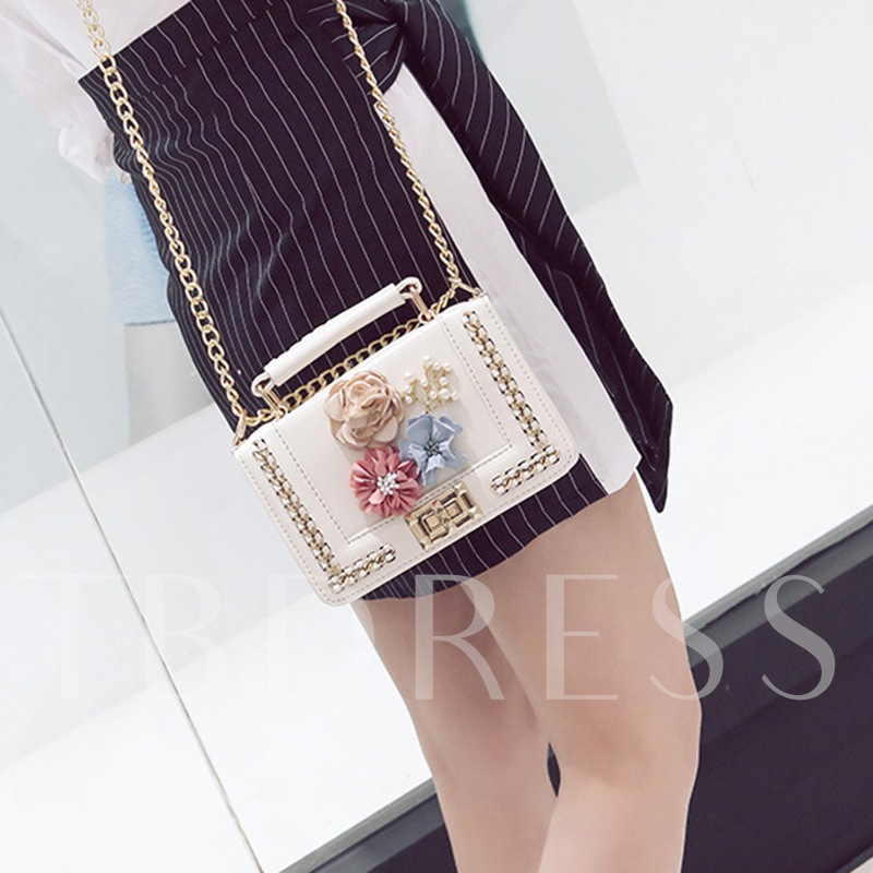 Floral Adornment Women Cross Body Bag