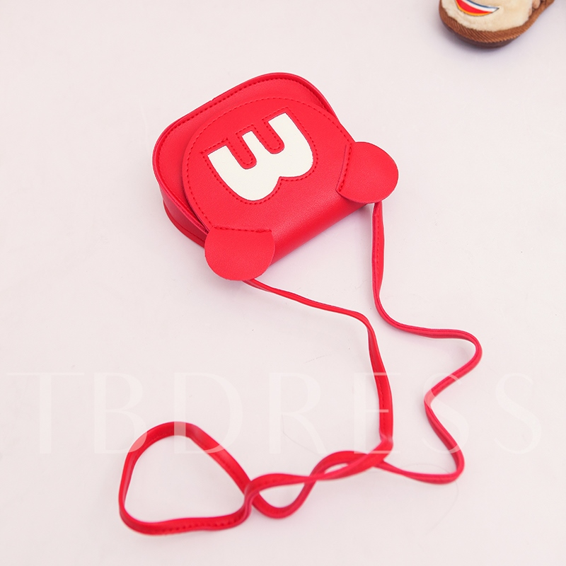 Adorable Letter Pattern PU Mini Cross Body Bag