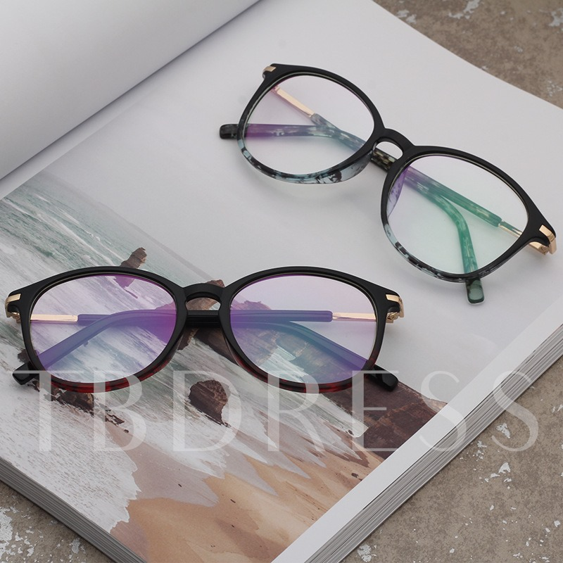 Retro Plain Metal Reshin Sunglasses