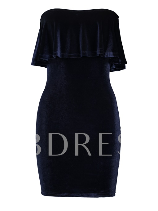 Strapless Plain Backless Women's Bodycon Dress