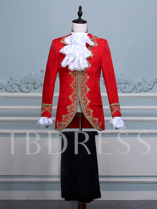 Embroidery Luxury Slim Men's Swallow-Tailed Coat